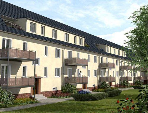 Denkmalgeschützte Mehrfamilienhäuser an VW Standort Glauchau